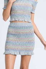 storia Colorful Smocked Skirt - Front cropped