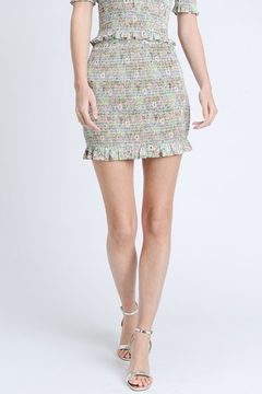Shoptiques Product: Colorful Smocked Skirt
