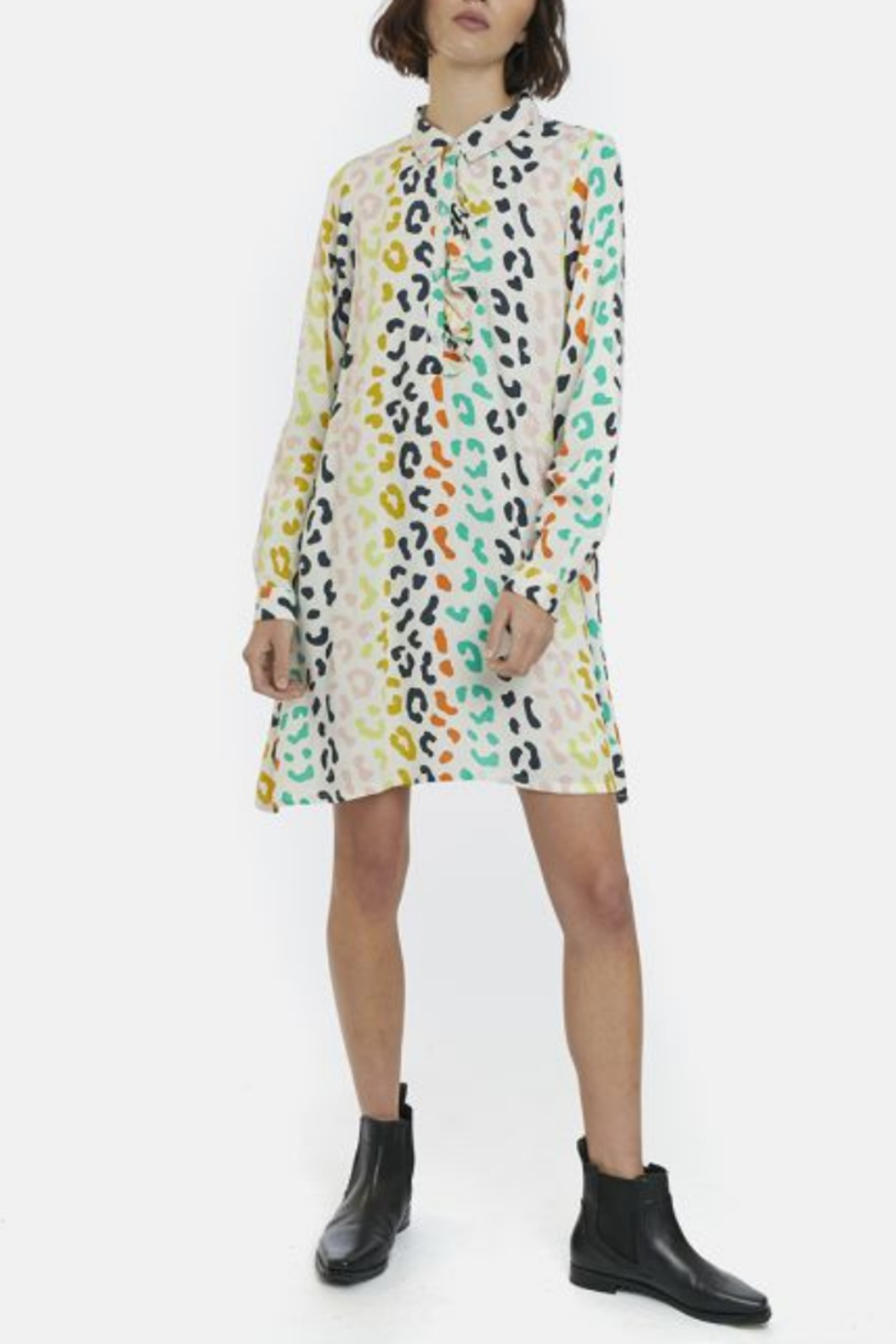 Compania Fantastica Colorful Spots Dress - Front Cropped Image