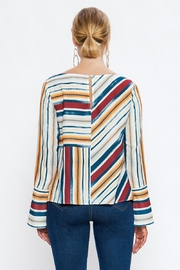 Jealous Tomato Colorful Stripe Blouse - Side cropped