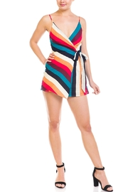 luxxel Colorful Stripe Romper - Product Mini Image