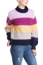 Cotton Candy Colorful Stripe Sweater - Product Mini Image