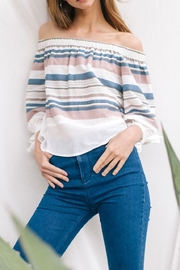 Flying Tomato Colorful Stripe Top - Front full body