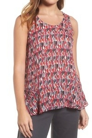 Nic+Zoe Colorful Tank with Ruffled Bottom - Product Mini Image