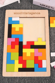 Freeship Wholesale - Faire Colorful Tetris Toy Wooden Game - Product Mini Image