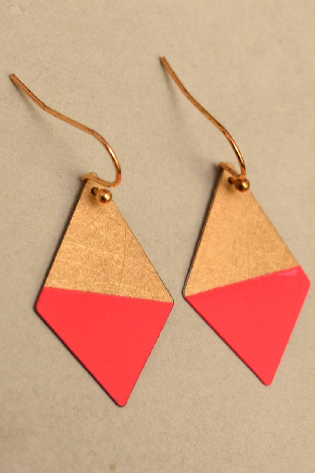 Linie Clara Kaesdorf Colorful Trapezoid Earrings - Front Cropped Image