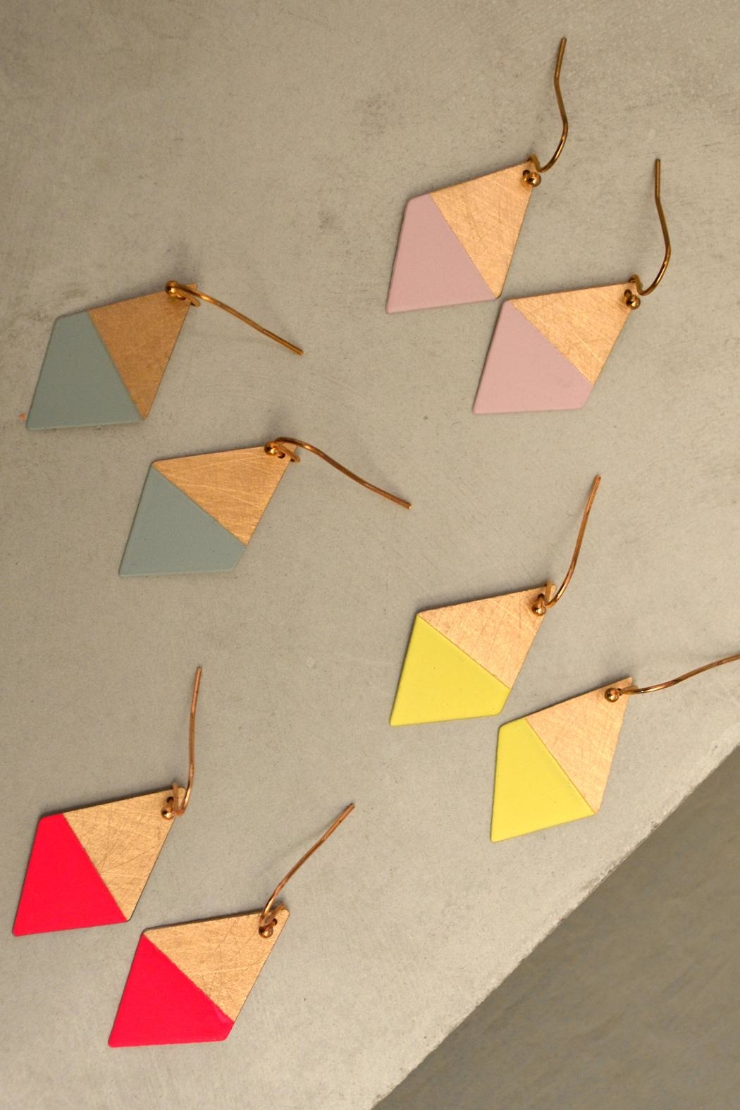 Linie Clara Kaesdorf Colorful Trapezoid Earrings - Front Full Image