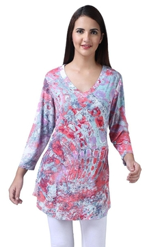 Parsley & Sage Colorful V-Neck Tunic - Product List Image