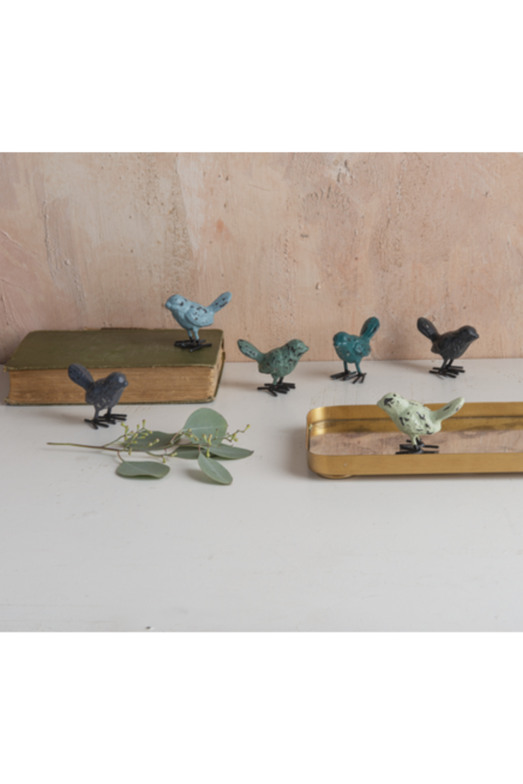 Ganz Colorful Vintage Decorative Birds - Front Full Image