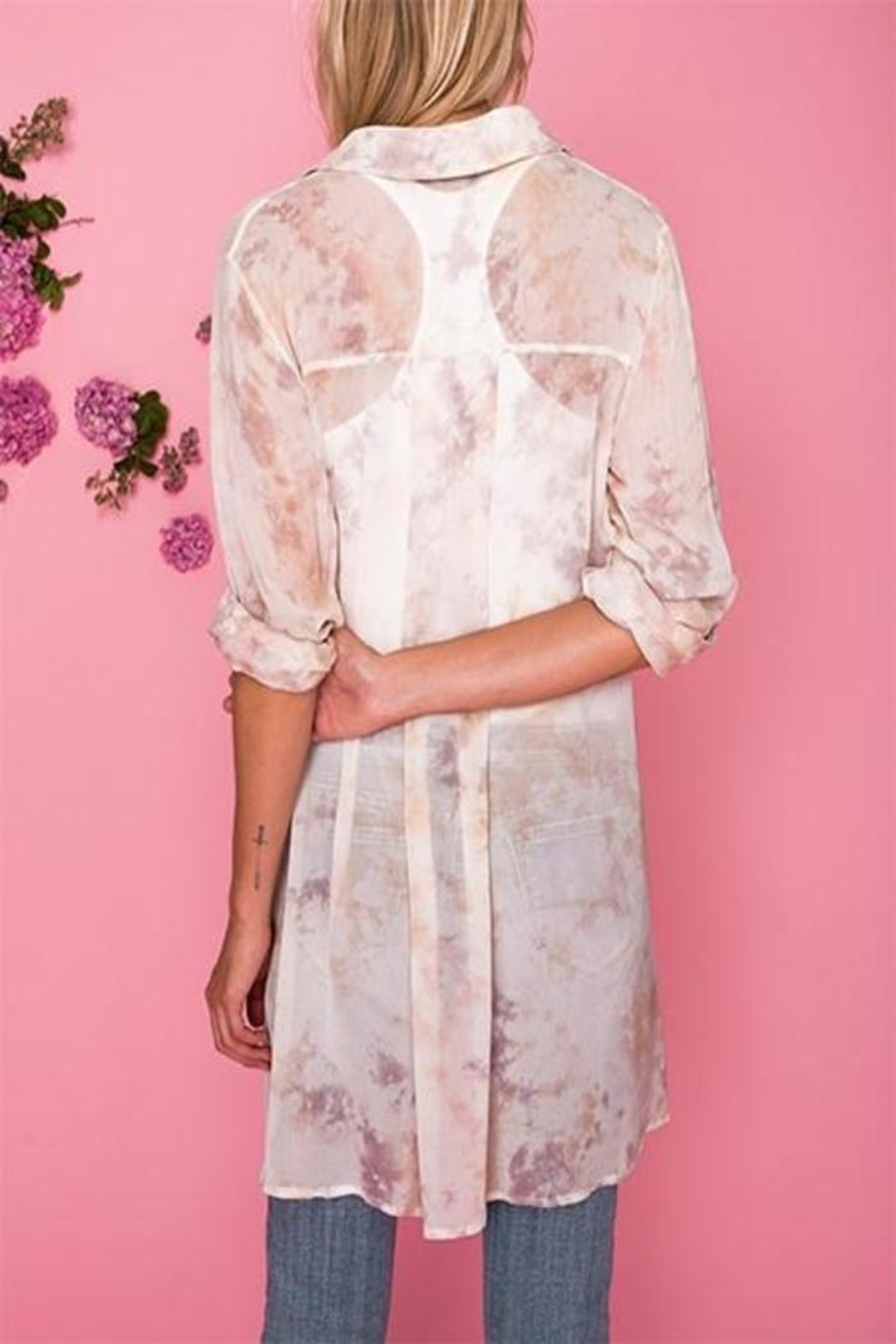 AS by DF Colorwash Shirtdress - Front Full Image