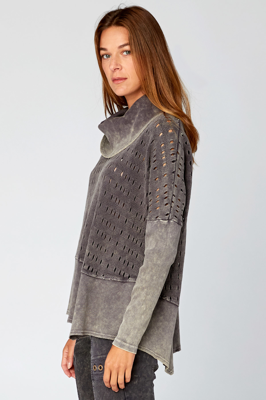 XCVI Colossal Knit Cowl Neck Pullover - Front Full Image