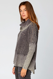 XCVI Colossal Knit Cowl Neck Pullover - Front full body