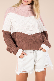POL Colour Block Turtle Neck Sweater - Product Mini Image