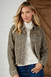 Mud Pie Colton Leopard Jacket - Product Mini Image