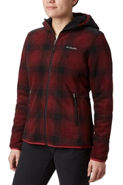 Columbia Sportswear Beet-Check-Print Fleece Jacket - Product Mini Image