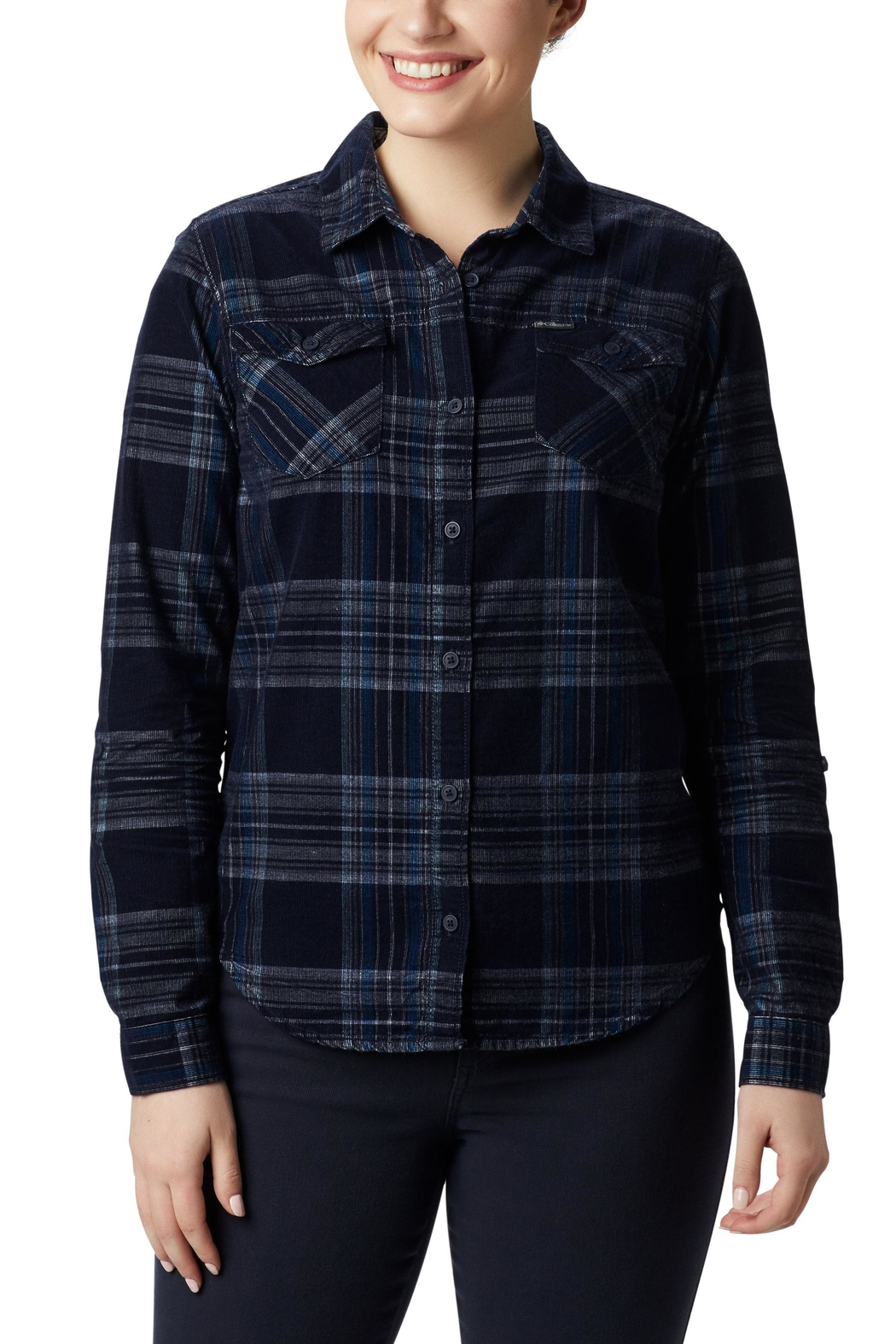Columbia Sportswear Corduroy Plus-Size Shirt - Front Cropped Image