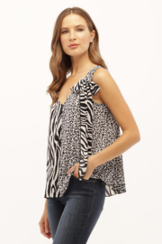 Kay Celine Combo Animal Print Top - Product Mini Image