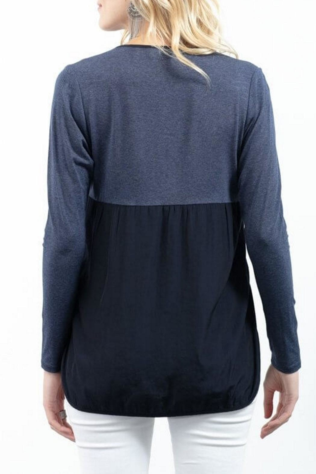Lola & Sophie Combo Henley Top - Front Full Image
