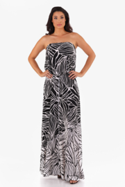 VKY & CO Combo Long Skirt - Front cropped