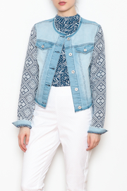 Tribal Combo Sleeve Jacket - Front cropped