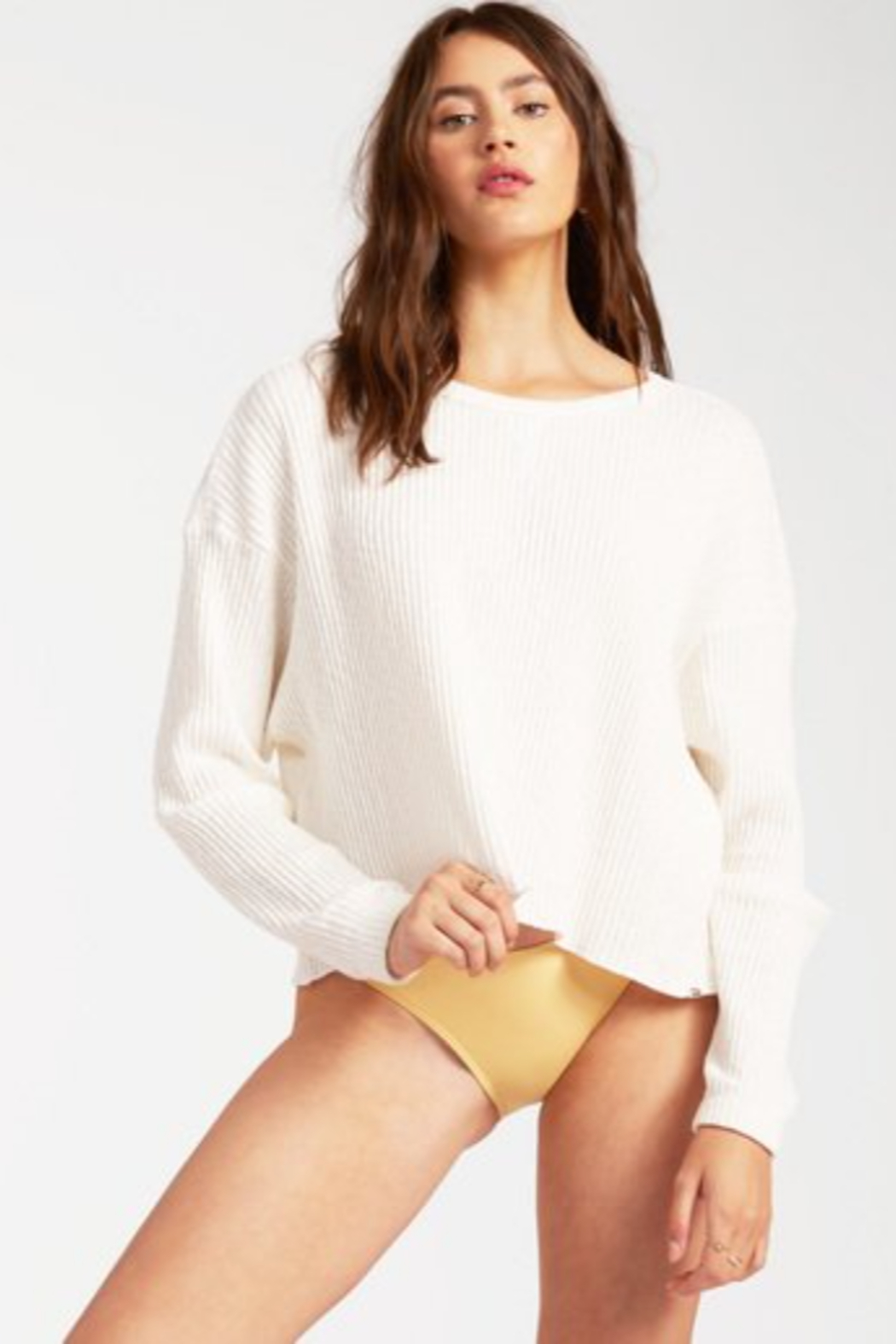 Billabong  Come Through Sweater - Front Cropped Image