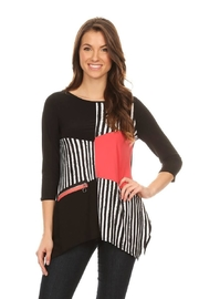 Come N See Asymmetric Stripy Blouse - Front cropped