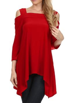 Come N See Red Off-Shoulder Top - Product List Image