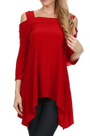 Come N See Red Off-Shoulder Top - Product Mini Image