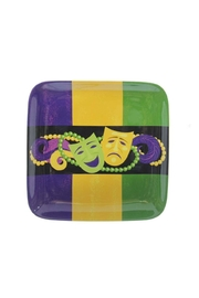 Mardi Gras Collection Comedy/tragedy Square Plate - Product Mini Image