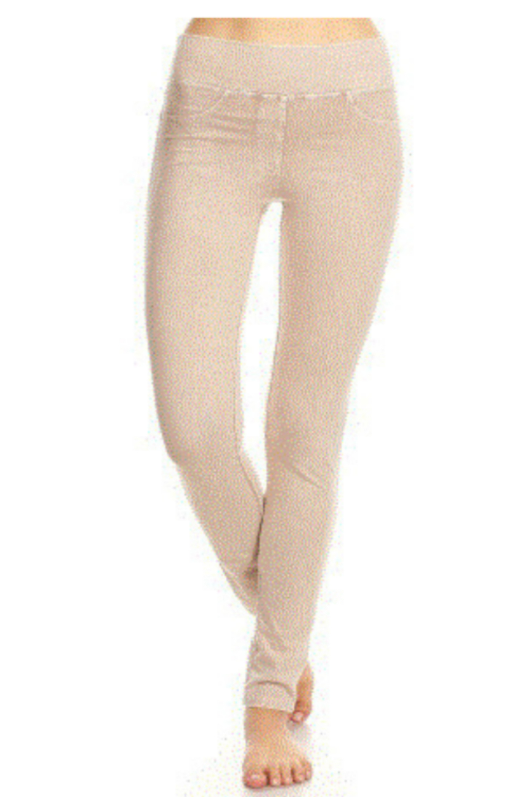 T Party Comfortable Wide Band Jeggings w/Back Pockets - Front Cropped Image