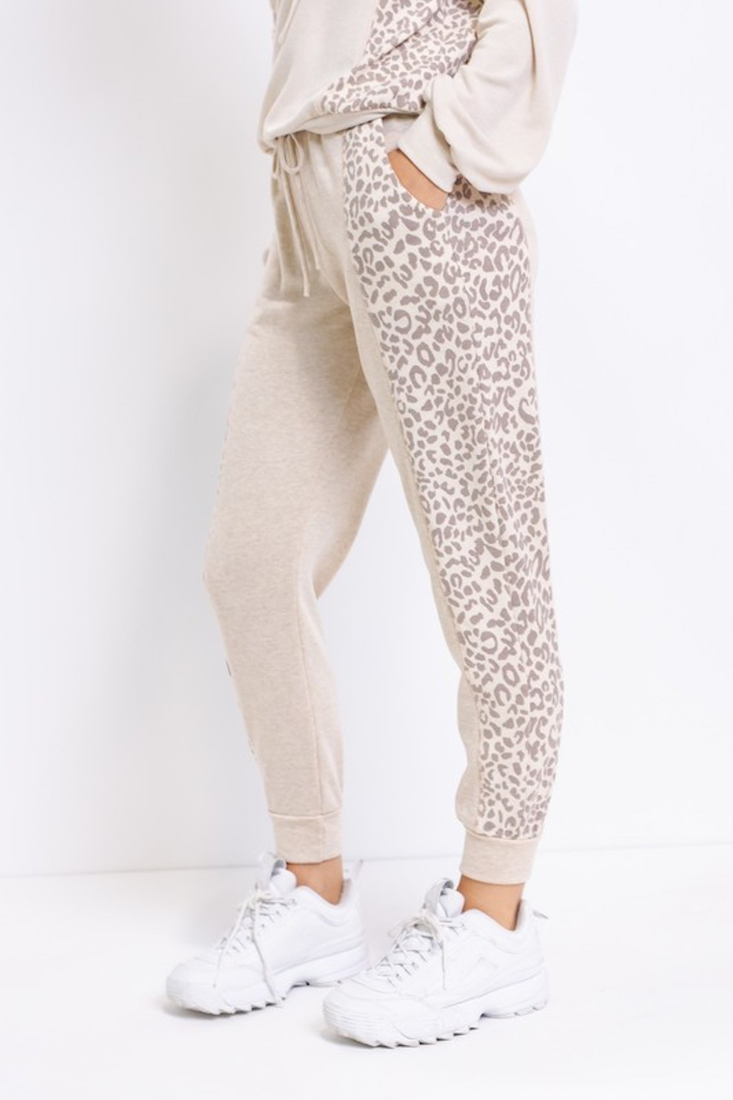 Le Lis Comfy Contrast Joggers - Front Full Image