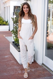 Venti6 Comfy Crinkle Overall - Front full body