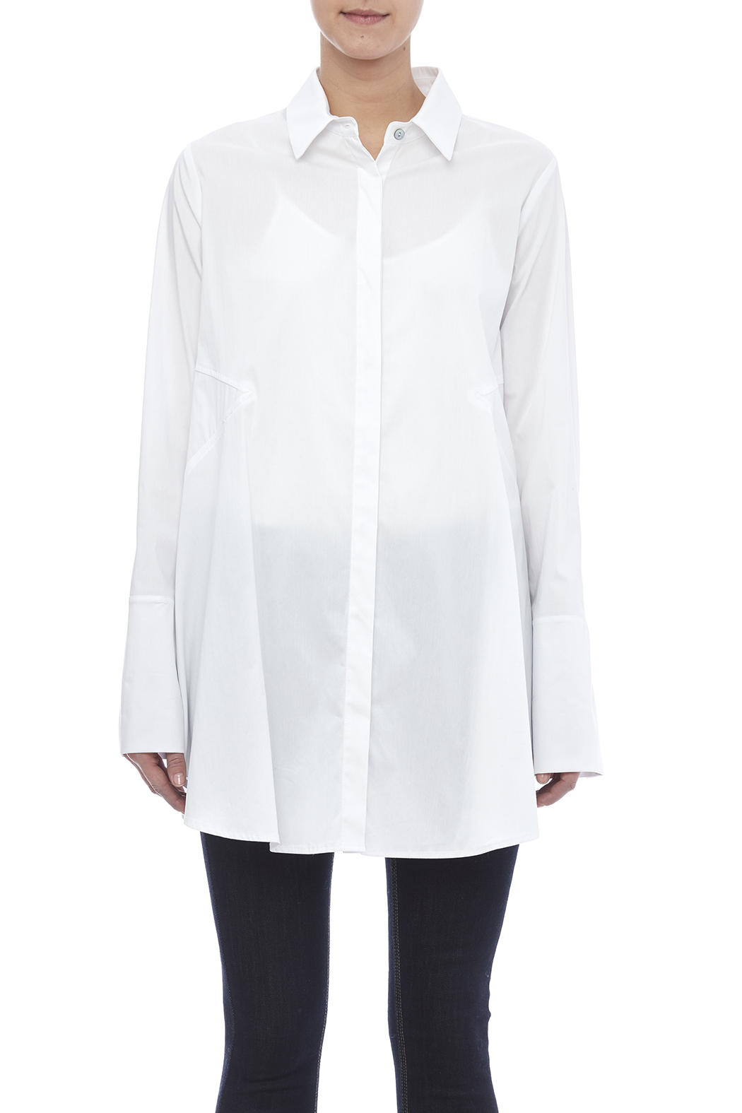 Comfy crisp white blouse from saint paul by scarborough for Crisp white cotton shirt