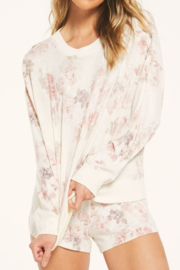 Zsupply Comfy Floral Pullover - Product Mini Image