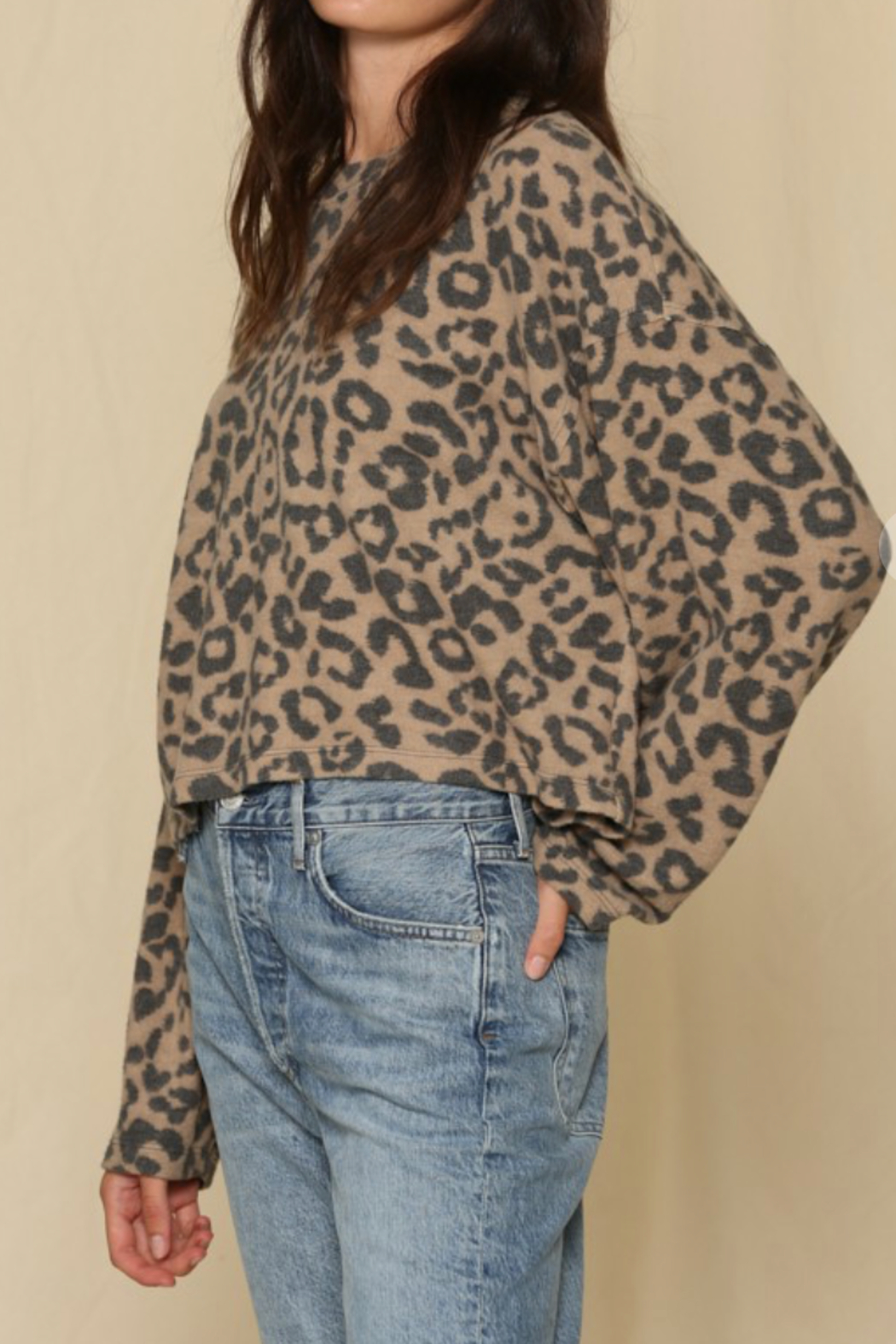By Together  Comfy Leopard Pullover - Front Full Image