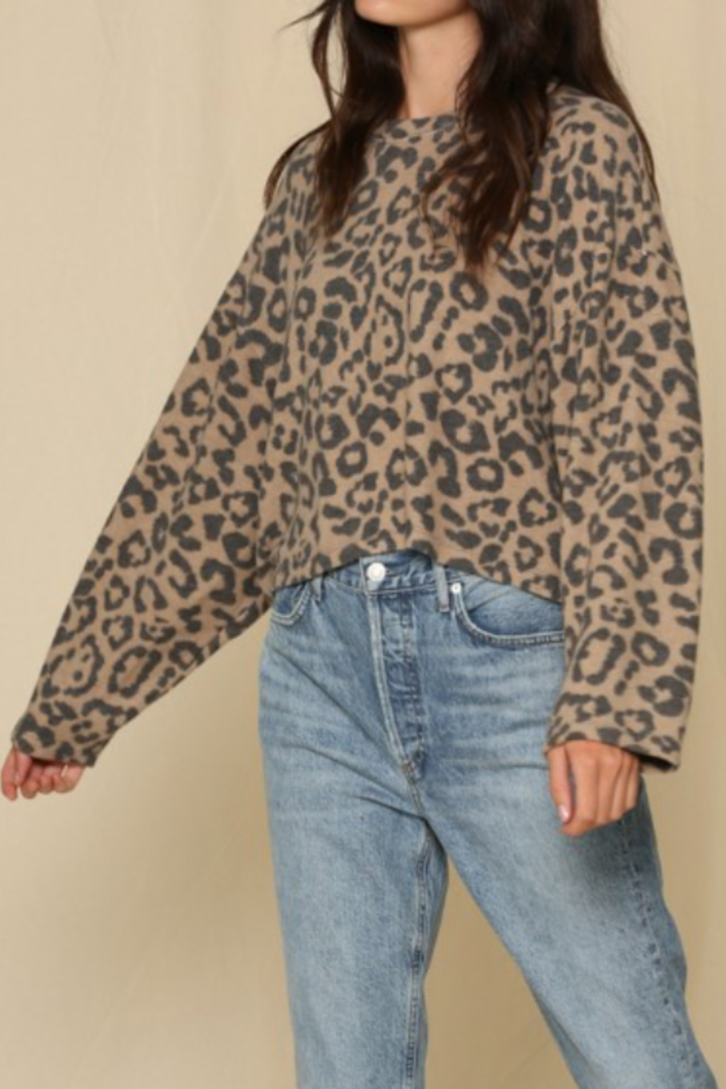 By Together  Comfy Leopard Pullover - Main Image