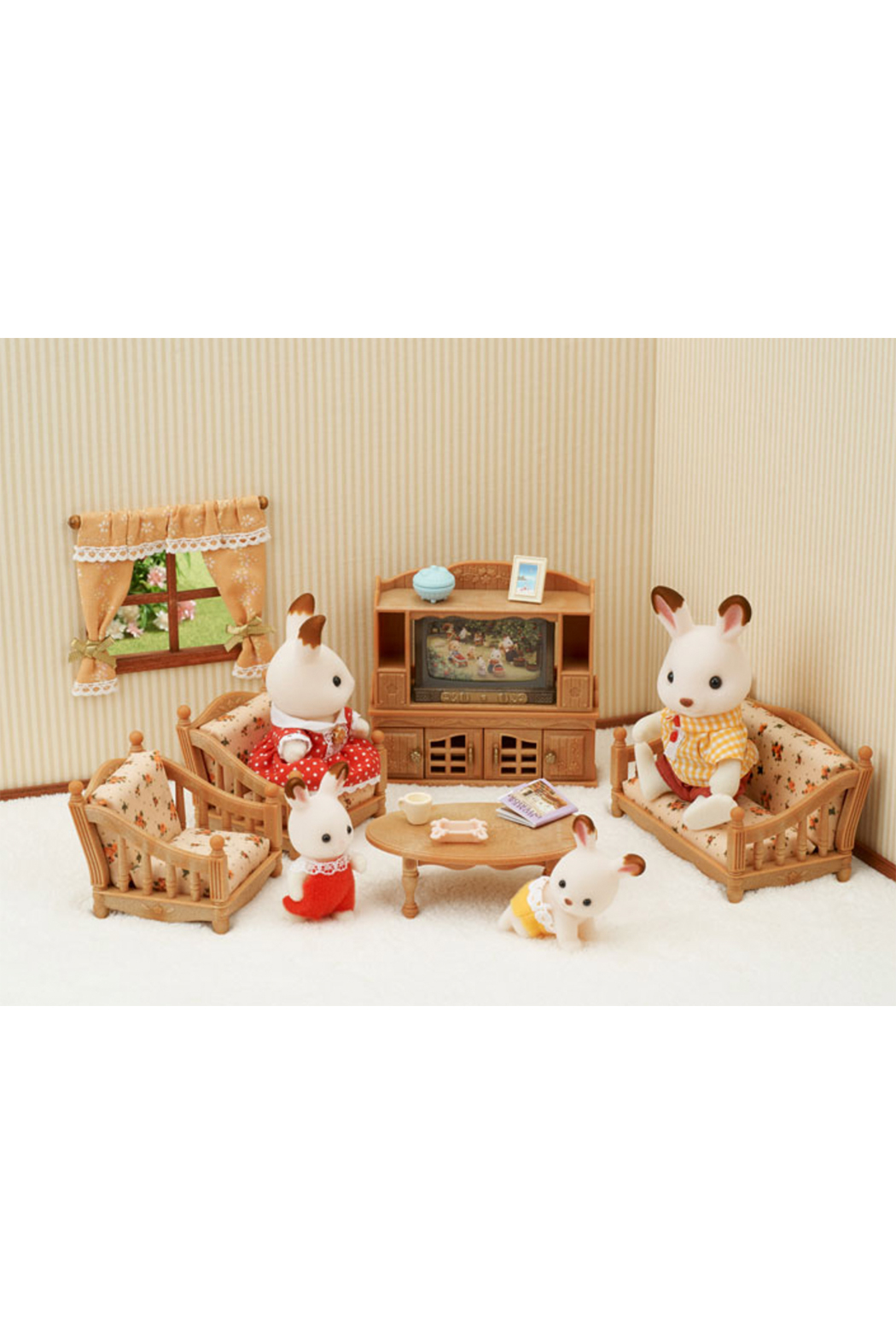 Calico Critters Comfy Living Room Set - Front Full Image