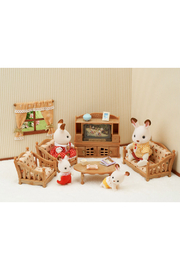 Calico Critters Comfy Living Room Set - Front full body