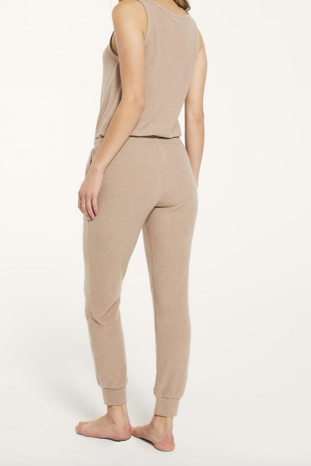 z supply Comfy Ribbed Jumpsuit - Front Full Image