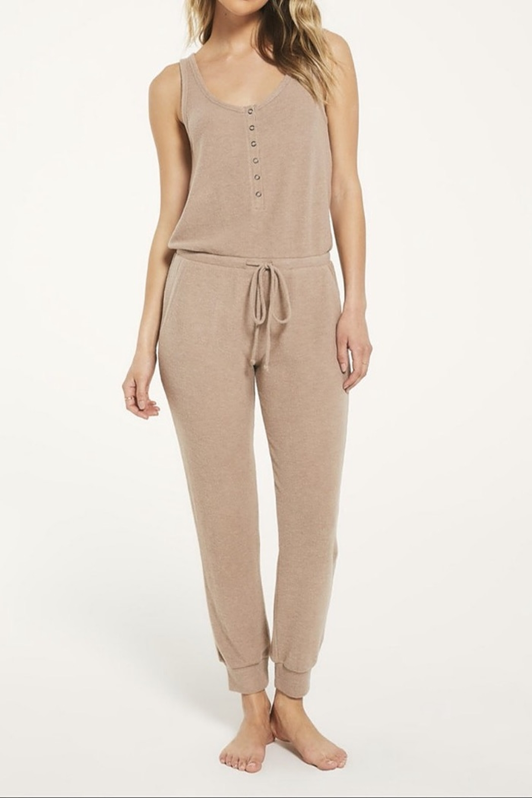 z supply Comfy Ribbed Jumpsuit - Main Image