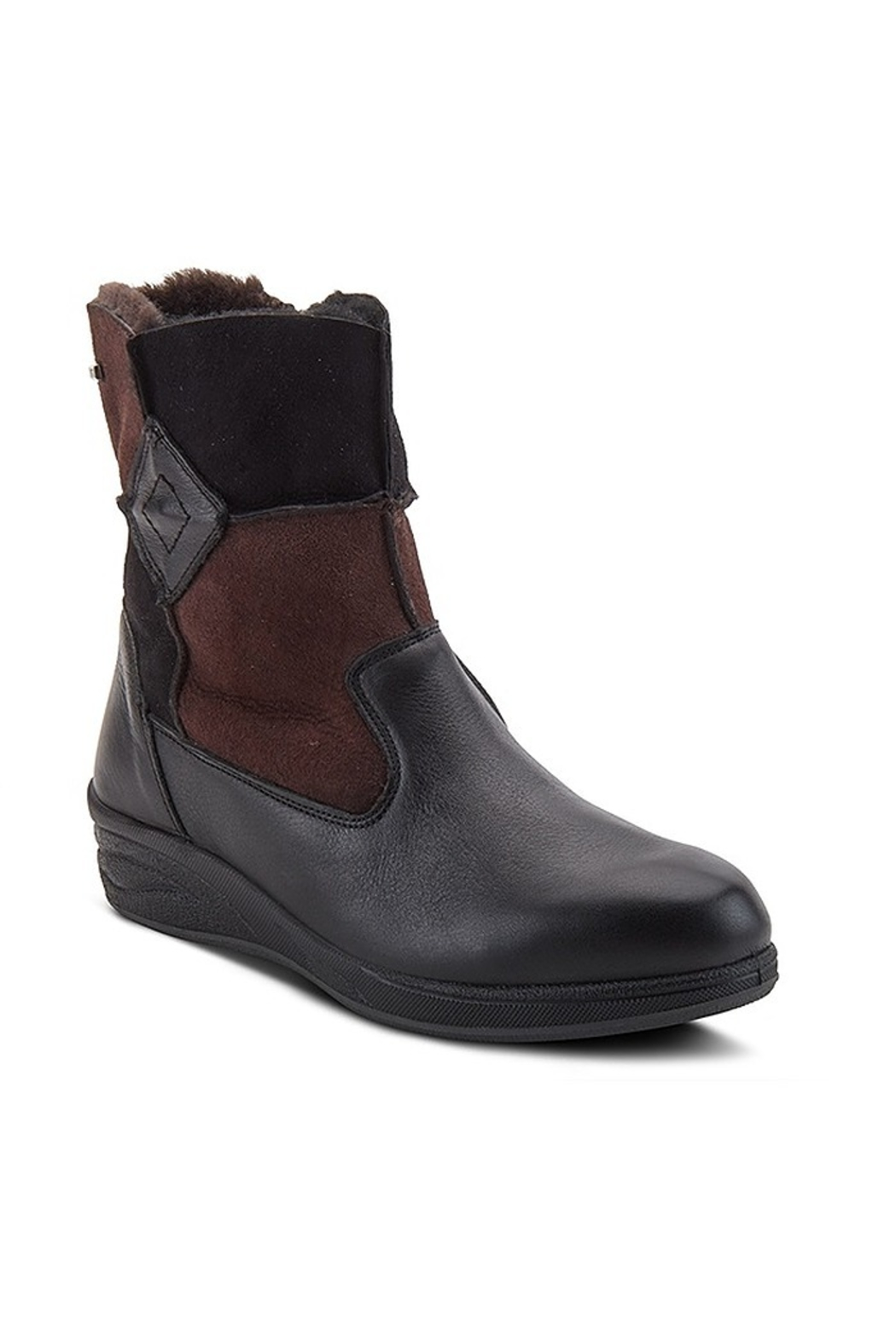 Spring Footwear Comfy Sheepskin Booties - Front Cropped Image