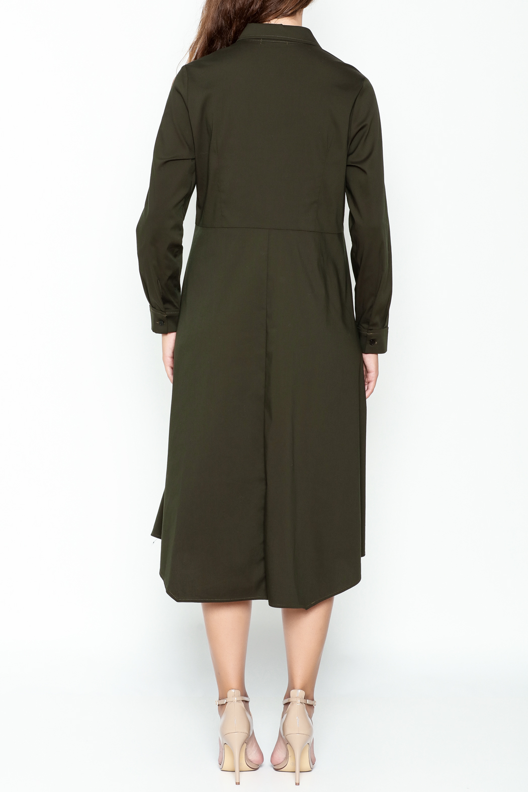Comfy Shirt Dress - Back Cropped Image