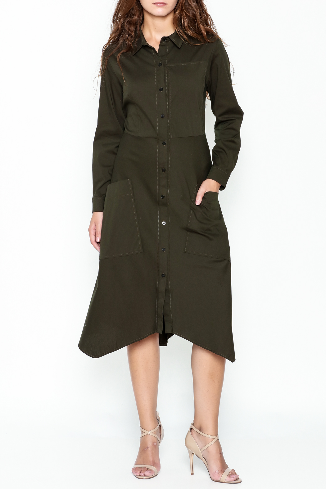 Comfy Shirt Dress - Main Image