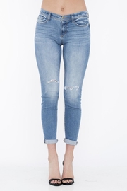 Sneak Peek Comfy Tiny-Distressed Jeans - Front full body