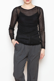 Comfy USA Sheer Mesh Top - Front cropped