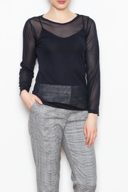 Comfy USA Sheer Mesh Top - Front full body