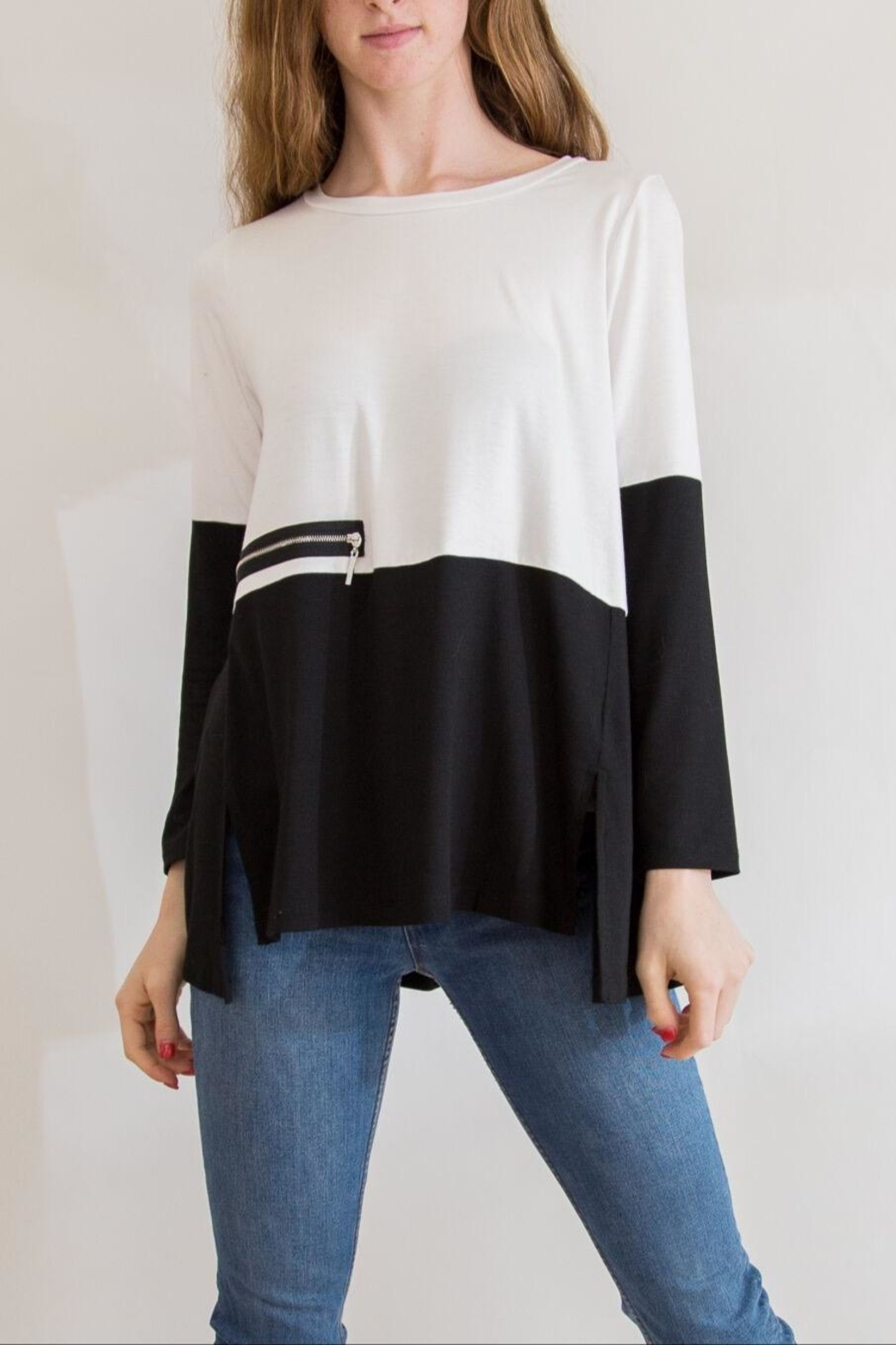 Comfy USA Black & White Tunic - Main Image