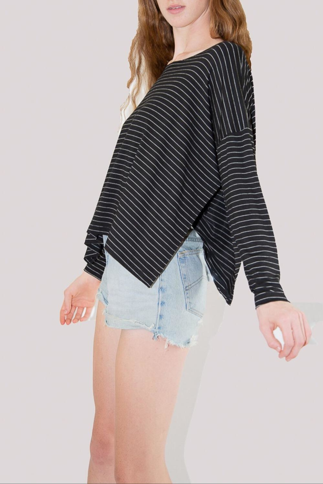 Comfy USA Striped Long Sleeve - Front Full Image