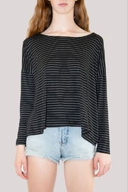 Comfy USA Striped Long Sleeve - Front cropped