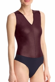 Commando Faux Leather V-Neck Bodysuit - Product Mini Image